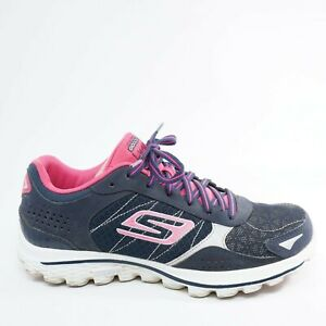 Skechers-Womens-Go-Walk-2-Lynx-Golf-Shoes-Size-6-Blue-Pink-Lace-Up-13643