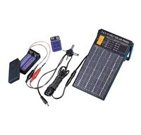 Charge Aa & 9 Volt Batteries Solar Panel That Generates 3, 6, 9, 12 Volts