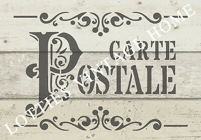 ❤️ STENCIL A5 French CARTE POSTALE Furniture Fabric ARTS ❤️ Vintage Shabby Chic