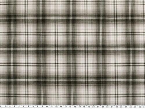 kariert schwarz-weiß Baumwollstoff 145cm Hemden- Blusen