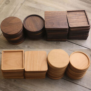 Solid Wood Drink Coaster Tea Coffee Cup Mat Pads Table Decor Tableware Placemats