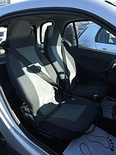 Sitzbezüge Schonbezüge Schwarz Grau Stoff LUX Neu für Smart ForTwo 450 451 452