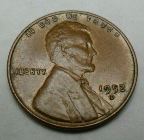 1952 D Lincoln Cent MINT STATE BROWN*  *FREE SHIPPING* MS BR Penny *BU
