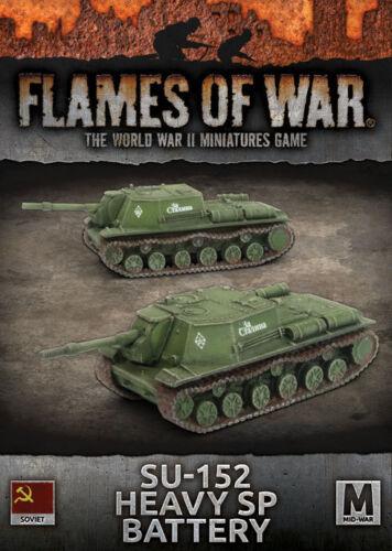 Flames of War Entièrement neuf dans sa boîte SOVIET SU-152 Heavy SP Batterie SBX59
