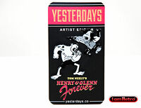 Henry & Glenn Two-pin Set 1.25 Black Metal Plated Pin By Yesterdays.co