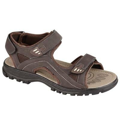 Mens Faux Leather Summer Sandals Walking Hiking Trekking Sandals Beach Shoes Siz Reinweiß Und LichtdurchläSsig