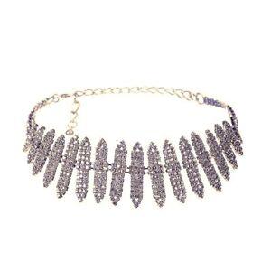 Sexy-Sparkling-Choker-Rhinestone-Bridal-Necklace-Silver-Gold-Crystal-Collar
