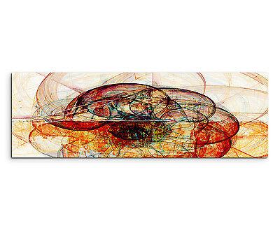 150x50cm Panoramabild Paul Sinus Art  Abstrakt rot braun grün creme Wohnzimmer