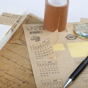 undated 2018 calendar stickers planner monthly divider tabs