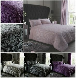Luxuries-EMPIRE-DAMASK-Printed-Reversable-Duvet-Cover-Pillow-Case-Bedding-Set-Gc