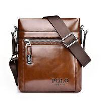 Men's Genuine Real Leather Handbag Briefcase Laptop Tote Shoulder Messenger Bag