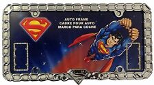 "New DC Comics Superman ""Unchained"" Chrome Auto License Plate Frame -SINGLE FRAME"