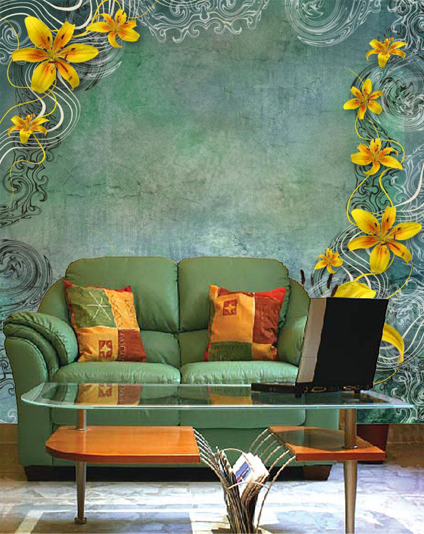 3D Eflower Texture Retro Wall Paper Print Decal Wall Deco Indoor wall Mural