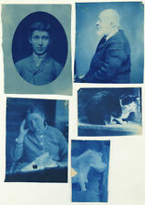 5 Photos Cyanotypes Vers 1900