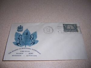 1948 THE FATHERS OF RESPONSIBLE GOVERNMENT ONTARIO CANADA COVER & STAMP