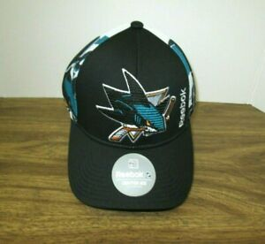 NEW NHL SAN JOSE SHARKS  MEN'S  EMBROIDERED REEBOK ADJUSTABLE CAP HAT OSFA