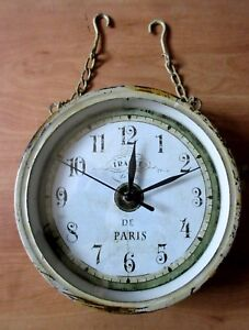 Image Is Loading Vintage Double Sided Hanging Clock Home