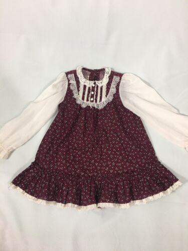 Vintage Girls Gunne Sax Calico Dress