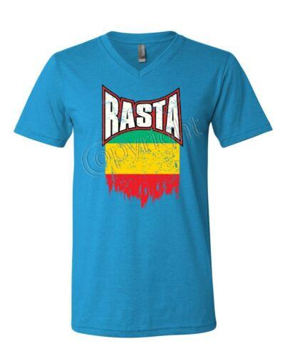 Distressed Rasta Flag Women/'s Long Sleeve Tee Smoking 420 Reggae Marijuana Weed