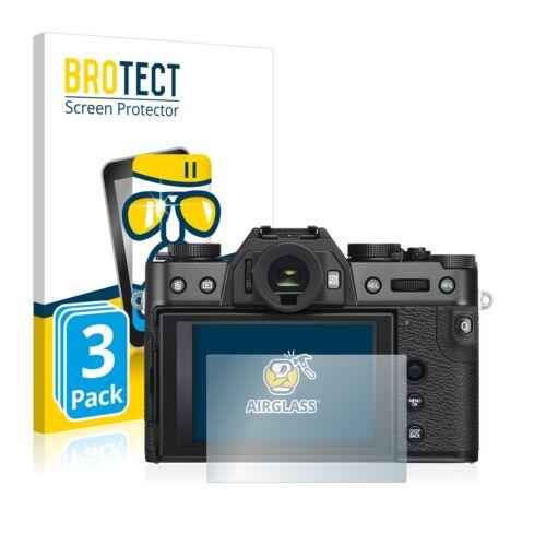 3x FujiFilm X-T30 Protector de Pantalla de Vidrio Templado Film De Protección
