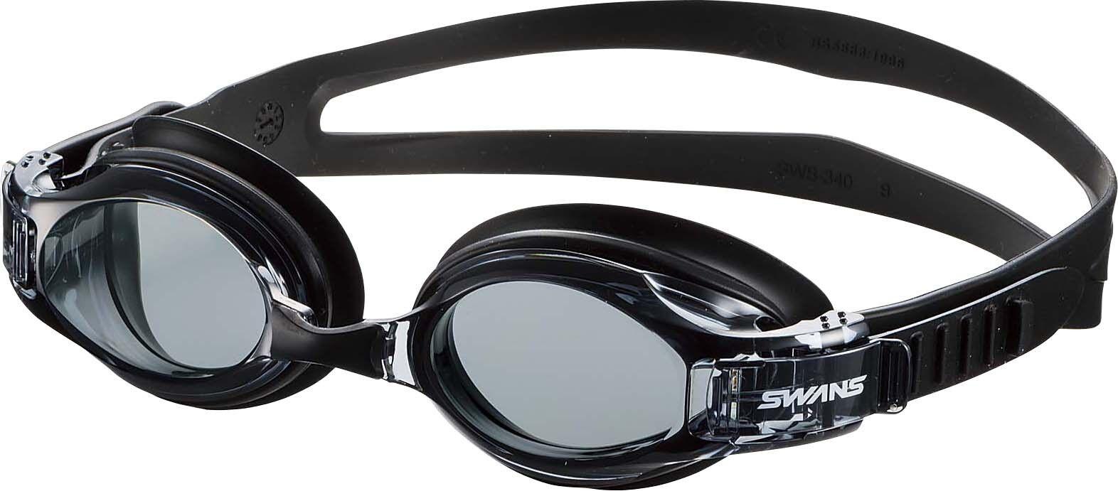 SWANS Japan Swimming Goggle Anti-fog UV cut fitness Easy adjuster SW-34 SMBK