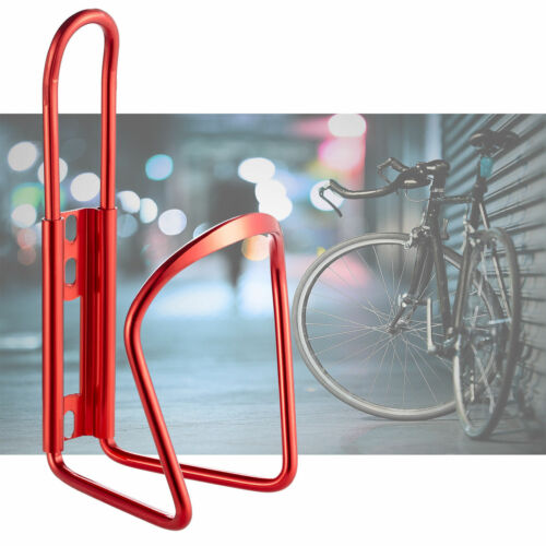 MTB Bicycle Cycling Water Drink Bottle Holder Bracket Aluminium Metal Cage Red