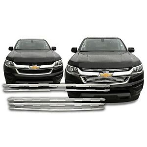 Chrome-Grille-Overlay-Kit-FITS-2015-2016-2017-2018-2019-Chevy-Colorado-WT-LT