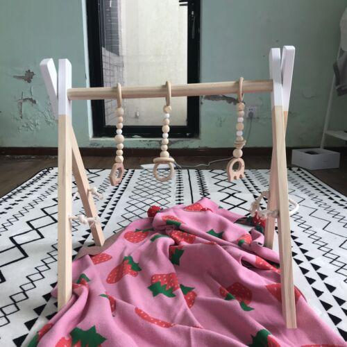 Natural Pine Wooden Play Gym Activity Frame Baby Gym Nursery Decor Sensory Toys