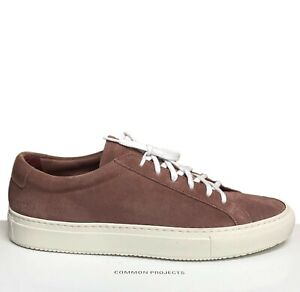 Common-Projects-Men-039-s-Sneakers-Size-7-40-Blush-Achilles-Suede-New-In-Box