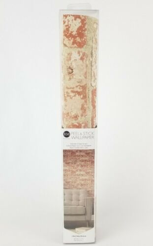 Stuccoed Red Brick Peel /& Stick Wallpaper 16.5 Ft x 20.5 Inches RMK9035WP New