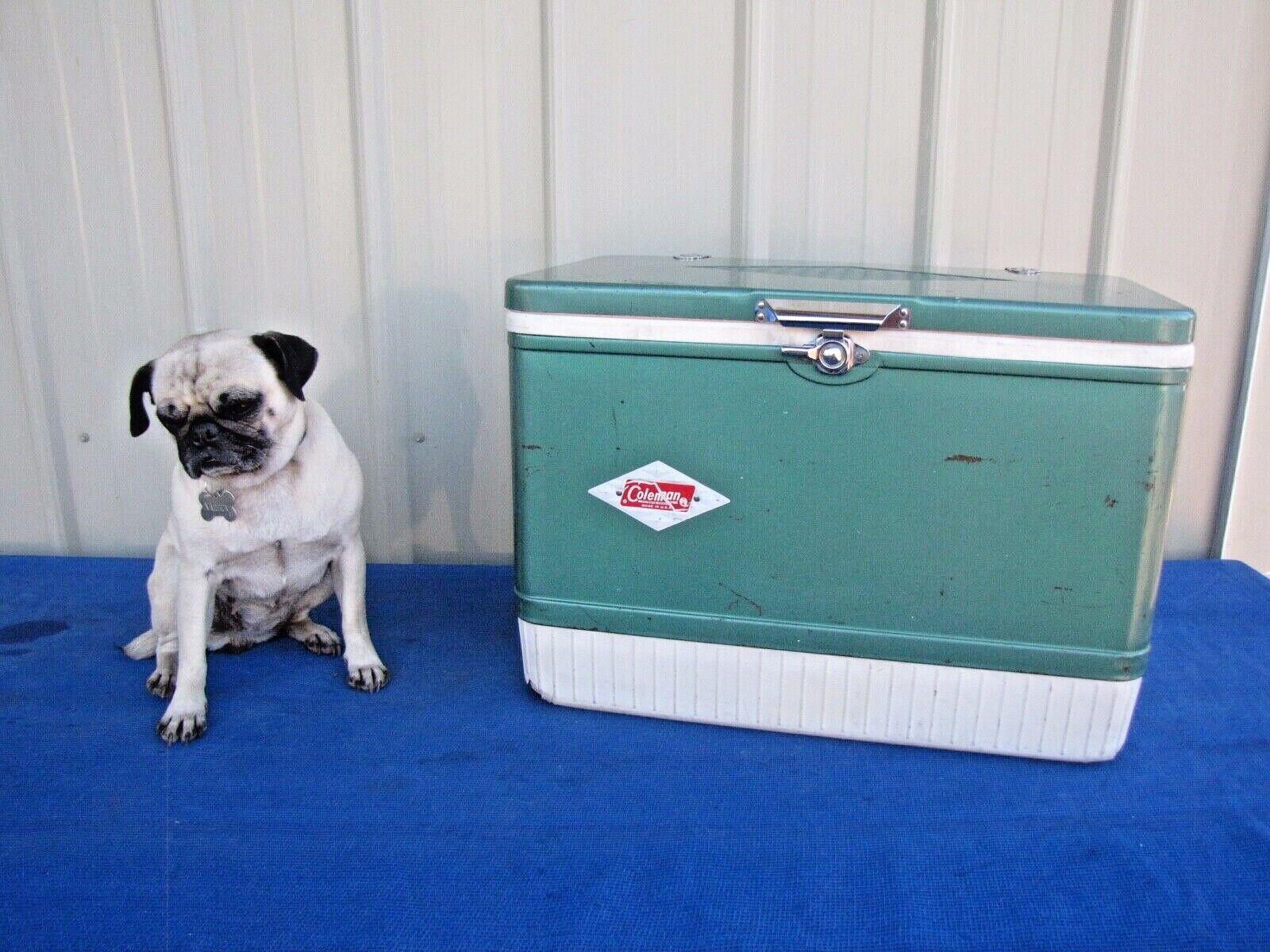 Vintage 1960's Colehomme Diamond vert Ice Cooler Chest Box 22  x 15  x 13