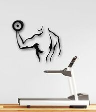 Wall Stickers Vinyl Decal Iron Sport Gym Fitness Dumbbells (ig209)