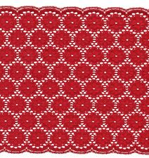 Red Rigid Lace Trimming 4mts 20.5cm Wide