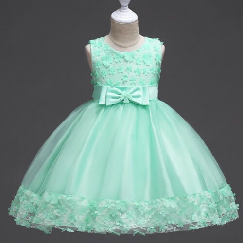 Flower Girl Dress Sequins Pageant Prom Ball Gown for Baby Kid Communion Wedding