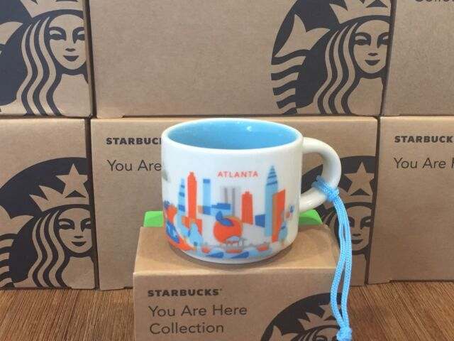 """2016 Starbucks """"YOU ARE HERE"""" YAH Collection Ornament Series, Atlanta City 2 oz"""