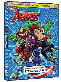 1 of 1 - Avengers - Earth's Mightiest Heroes - Vols.1-4 - Complete (DVD, 2012, Box Set)