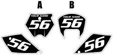 2005-2006 KTM 450 SX Custom Pre-Printed Black Backgrounds White Bold Pinstripe