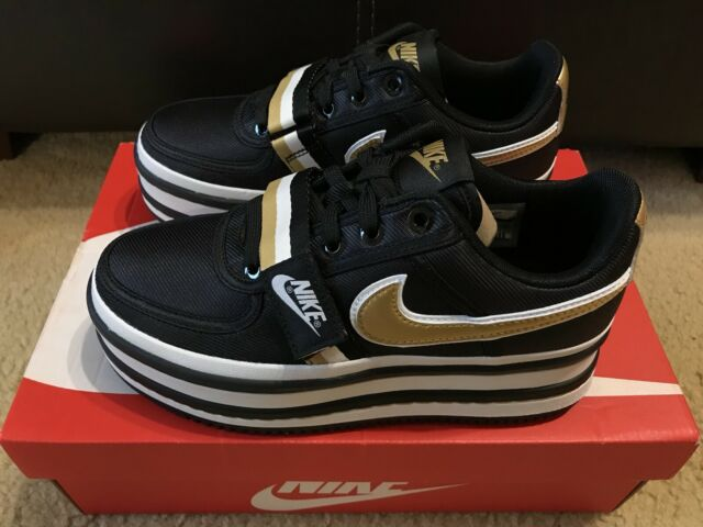 a76fe012c37c7 Nike Women s Vandal 2x Black Metallic Gold Platform Ao2868 002 Size ...