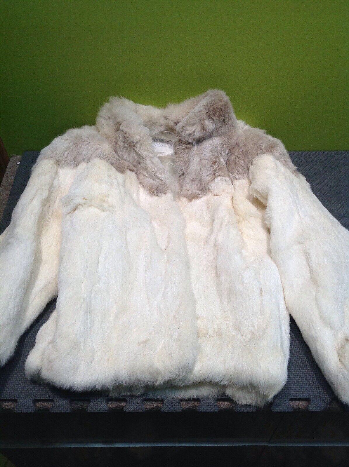 Beautiful Rabbit Fur Origin Coat Nicholas Stewart Sz M France FAST FREE SHIP