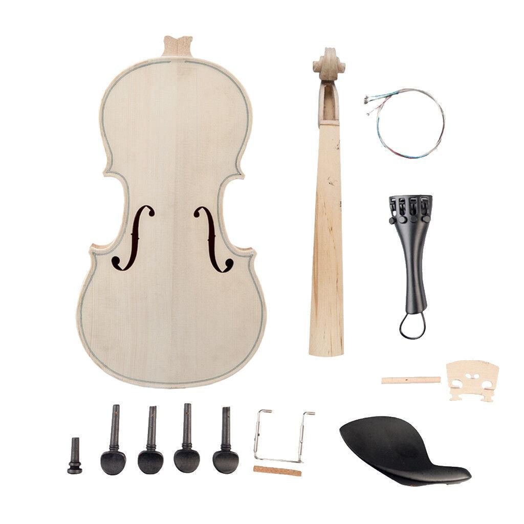 DIY 4 4 Violine Massivholz Unfinished Handcraft Violinkörper Violine Geige