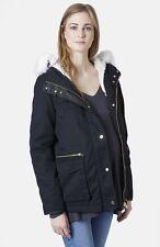 TOPSHOP 'Walter' Hooded Cotton Maternity Parka Lined Hooded Jacket Coat US Sz 12