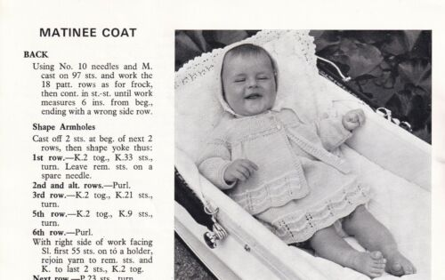 KPF 57 VINTAGE 1950/'S HAYFILED 16 MATINEE COATS QUICK-KNIT//4 PLY KNIT PATTERN