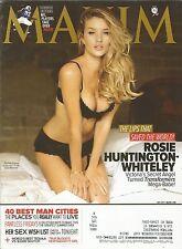 JULY 2011 MAXIM MAGAZINE ROSIE HUNTINGTON WHITELEY TRANSFORMERS VICTORIA'S HOT!