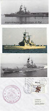 USS MISSISSIPPI CGN 40 CRUISER A SHIPS CACHED COVER & 3 SMALL MAGAZINE PICTURES