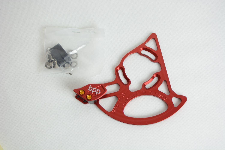 BPP ISCG 32t - 38t chainguide  CNC   nuevo    Rojo Hecho en Alemania