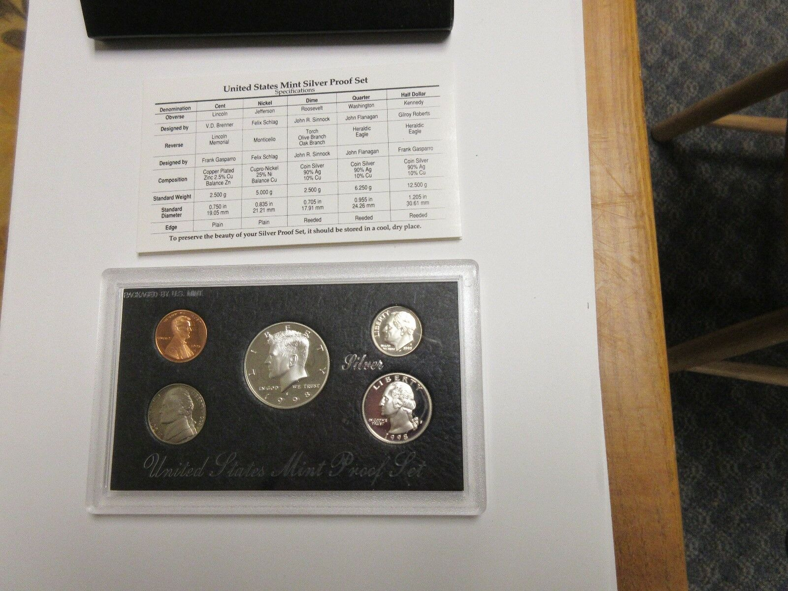 1998 , U.S. Mint , Silver Proof Set , Lot of 5 Sets