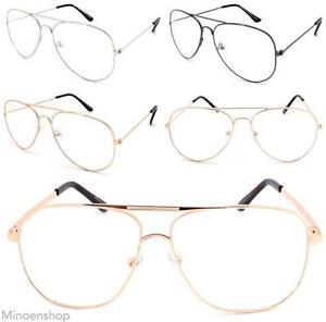 d297ce7f5 Image is loading Celebrity-Gold-Clear-Lens-Chelsea-Teardrop-Pilot-Glasses-