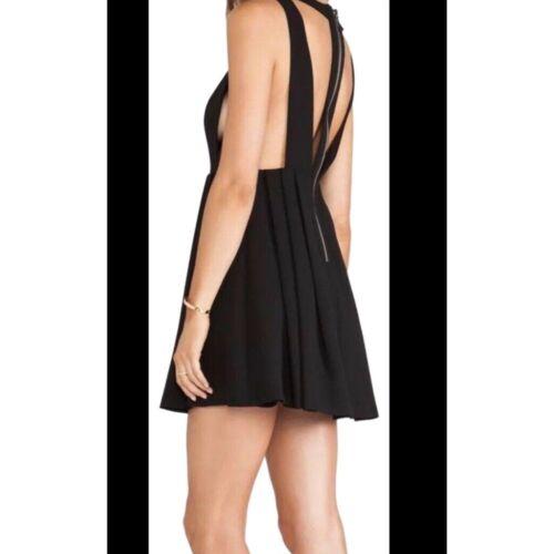 BCBGeneration Black Cut Apron Pleated Mini Dress S
