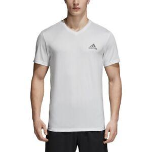 adidas-Mens-EssentialS-TECH-V-Neck-Tee-WHITE-B20131