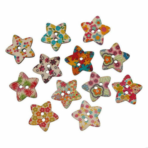 25 pack Resin Buttons Fastener Children Print Buttons Sewing Buttons Chris 2* 2X
